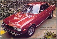 1975 Toyota Celica. My dad had one in green. They looked so great in the 70's, wish they'd make a new one that looked better than than have on the last 3 decades.