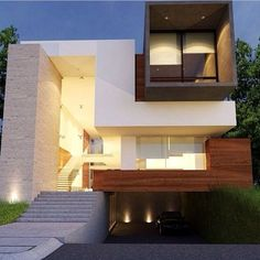 Modern with wood