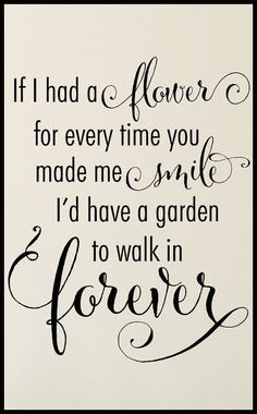 Garden to Walk in Forever ♥ #quote #wall #art #love