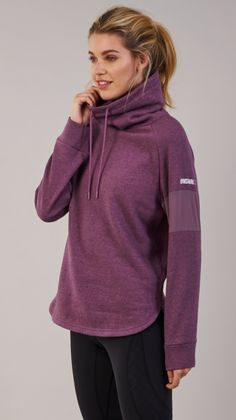 Snuggle up in the Gymshark Slouch Hoodie, with oversized cowl neck and indescribably soft cotton fabric. With mesh panelling to the arms and scooped dip hem, there's no need to compromise on style. Coming soon in Purple Wash Marl.