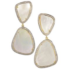 Slices of Mother of Pearl Earrings - One of my favorites!!