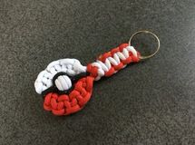 ポケボール キーホルダー Pokeball Themed Paracord Keychain