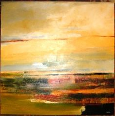 """christopher welsh. abstract landscape. acrylic painting 48""""x48"""""""