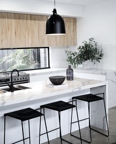 "76 Likes, 12 Comments - JM Homes Bendigo (@jmhomesbendigo) on Instagram: ""Whoever said ""Don't go chasing waterfalls?"" Waterfall bench tops in Smartstone Statuario Venato are…"""