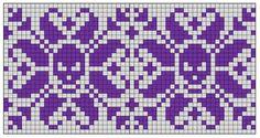Mönsterstickat hårband Fair Isle Knitting Patterns, Fair Isle Pattern, Knitting Charts, Knitting Stitches, Cross Stitch Embroidery, Cross Stitch Patterns, Graph Paper Art, Inkle Weaving, Crochet Chart