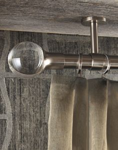 Mount hardware from the ceiling. Tuxedo Collection by Brimar. #brimar  #drapery hardware