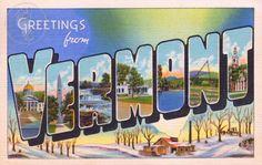 Vintage Vermont postcard.  #Vermont
