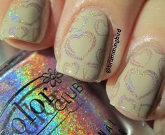 Holographic Hearts Over Nude