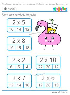 Verbs For Kids, Math For Kids, Lessons For Kids, Math Multiplication Worksheets, 1st Grade Math Worksheets, Cognitive Activities, Phonics Activities, Math Sheets, Math School