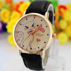 2016 New Women Faux Leather Strap Band Analog Quartz Wrist Watch Cat Cartoon Watch Ladies Clock Brand Dress Watch Mujer Relojes #>=#>=#>=#>=#> Click on the pin to check out discount price, color, size, shipping, etc. Save and like it!