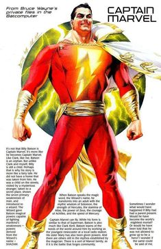 Captain Marvel by Alex Ross #AlexRoss #CaptainMarvel #Shazam #BillyBatson #TheWorldsMightestMortal #JSA #JusticeSociety #JusticeLeague #JL #FawcettCity #WHIZ #TheBigRedCheese