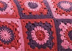 Ravelry: Mixed Berry Tarts Throw pattern by Marianne Forrestal