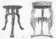 Мебель Древней Греции. Стол (трапедза) и бронзовый треножник