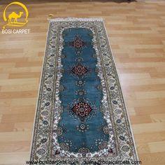 Hand knotted silk rug # Rug No.: P3116 # Quality: 180L (225kpsi) # Size: 2.3x7ft (70x213cm) # Material: 100% Silk # wholesale Price: $563/piece # If you have any interests, please email to sales@bosicarpets... handmadesilkcarpet#handmaderug#silkrug#silkcarpet#carpet#persiancarpet#persianrugs#rug#handmaderug#handknottedrug#iranrug#chineserug#turkeyrug#turkishcarpets#silkcarpets#silk#floorrug#hali#ipekhai#redrug#bluecarpet#turleycarpet