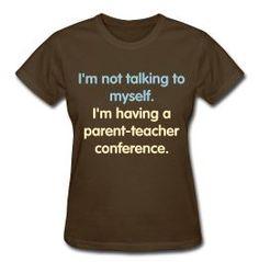 Hilarious shirt at a new homeschool shop! Too funny!