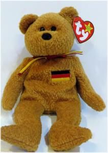 f2754e6d42e Ty beanie baby bear Germania Authentic MWMT with poem in German