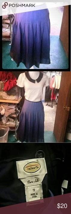 TALBOT PURE SILK SKIRT Beautiful blueish purple color. 100 % silk fully lined with 100 %polyester Skirts Midi