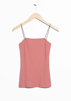 & Other Stories image 1 of Skinny Strap Tank in Pink