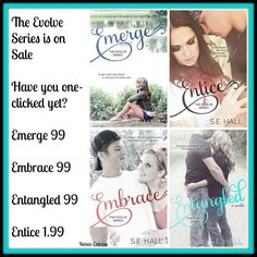 SALE SALE..hurry Evolve Series by SE Hall..wonderful reads!!! Less than $5 for 4 books!!!