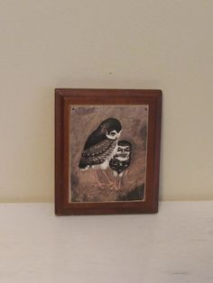 Small Vintage Owl Art on wood   Wall Hanging with by MaryAndGeneva