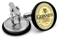 Guinness cufflinks from FrenchCuffed.com