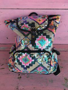 The Bling Box - Aztec v1 Sequin Chevron Backpack for Kids, $36.99 (http://www.theblingboxonline.com/aztec-v1-sequin-chevron-backpack-for-kids/)