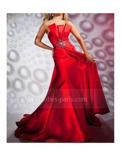 Robes de soirée H402 rouge feu H402 | robes-paris.com