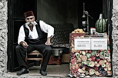 The Juice Master; photograph by Faisal Almalki. A famous juice salesman in old Istanbul.