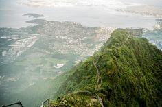 Haiku Stairs shot on Leica M3 Portra 400 by Kyle Ford #haikustairs #travel #hawaii #photography