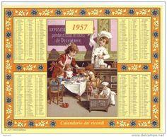 Calendario dei ricordi anno 1957