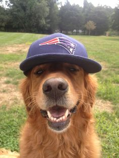 Looking good in the Pats hat...