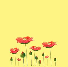 red poppies#redbubble #watercolorflower #watercolorart #flowerart #poppy #red #alinedress