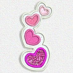 """This free embroidery design is called """"Hearts"""". It's only available today."""