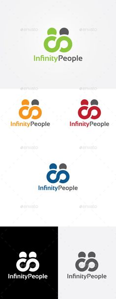 Infinity People Logo — Vector EPS #man #modern • Available here → https://graphicriver.net/item/infinity-people-logo/5737740?ref=pxcr