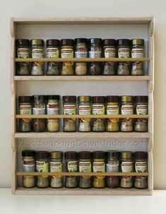Spice rack, Saves space on the countertop Solid wood can be sanded and surface treated as needed
