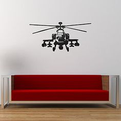 Apache Helicopter Vinyl Wall Sticker