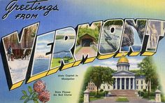 Greetings from Vermont - Large Letter Postcard by Shook Photos, via Flickr