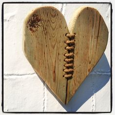 Driftwood & Twine Heart Wall Hanging by driftingtides on Etsy