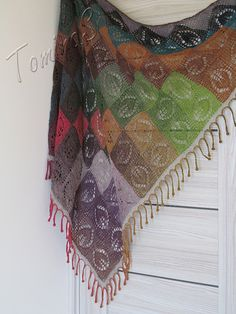 """oh my-- absolutely gorgeous. i know i will never make this… but oh… Ravelry: SvetlanaTomina's """"Early Autumn""""- free pattern Knitted Shawls, Knitted Blankets, Crochet Shawl, Knit Crochet, Lace Knitting, Knitting Patterns Free, Knit Patterns, Free Pattern, Wool Shop"""