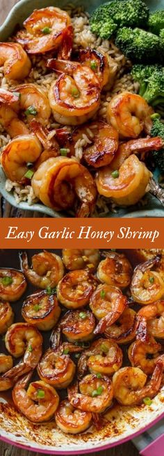 Healthy Dinner: 20 Minute Honey Garlic Shrimp Easy, healthy, and on the table in about 20 minutes! Honey garlic shrimp recipe on Easy, healthy, and on the table in about 20 minutes! Honey garlic shrimp recipe on Seafood Dishes, Seafood Recipes, Garlic Shrimp Recipes, Shrimp Recipes For Dinner, Shrimp Meals, Garlic Honey Shrimp, Seafood Meals, Dinner Recipes For Two On A Budget, Simple Shrimp Recipes