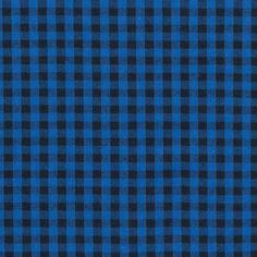 Royal Blue and Black Shepherd's Check Cotton Shirting