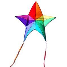 Rainbow Prism Star Box Kite - $29.99