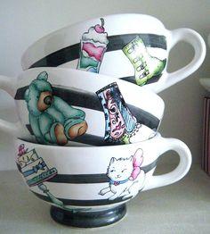 a pura rayas #ceramics#cupas#arthomedesigns