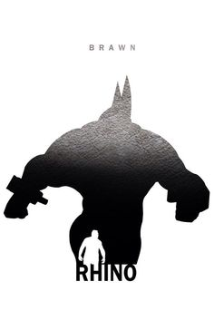 Rhino: Brawn by Steve Garcia (Marvel) Comic Book Characters, Marvel Characters, Comic Character, Comic Books Art, Comic Art, Hq Marvel, Marvel Dc Comics, Marvel Heroes, Superhero Silhouette