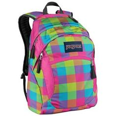This plaid Jansport backpack for school says it all ...