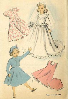 """21"""" Revlon Cissy Toni Sweet Sue Doll Clothes PATTERNS Wedding Gown Suit Tam Slip #Advance5002"""