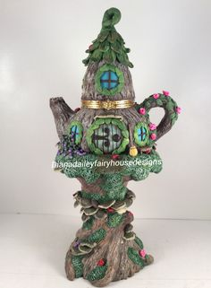 Polymer Clay Fairy House Trinket Box by Diana Dailey