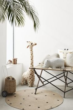baby room ideas 69102175520433384 - Round Jute Rug – Beige/dotted – Home All Baby Room Decor, Nursery Room, Boy Room, Kids Bedroom, Nursery Decor, Nursery Ideas, Safari Nursery, Giraffe Nursery, Round Rug Nursery