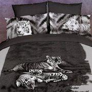 Dolce Mela Tigri Bianche 6 Piece Duvet Cover Set