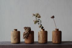 so nice these little wooden vases